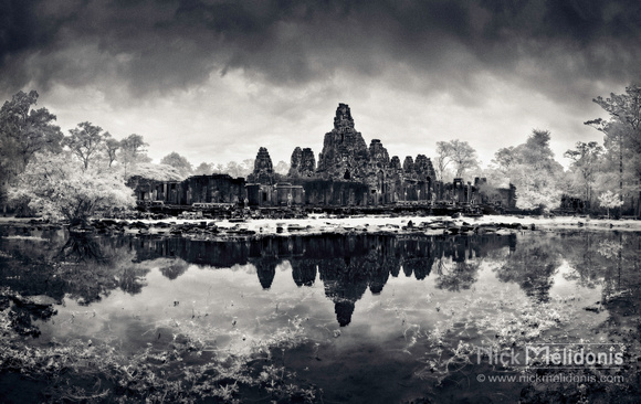 Bayon Temple after storm, Cambodia